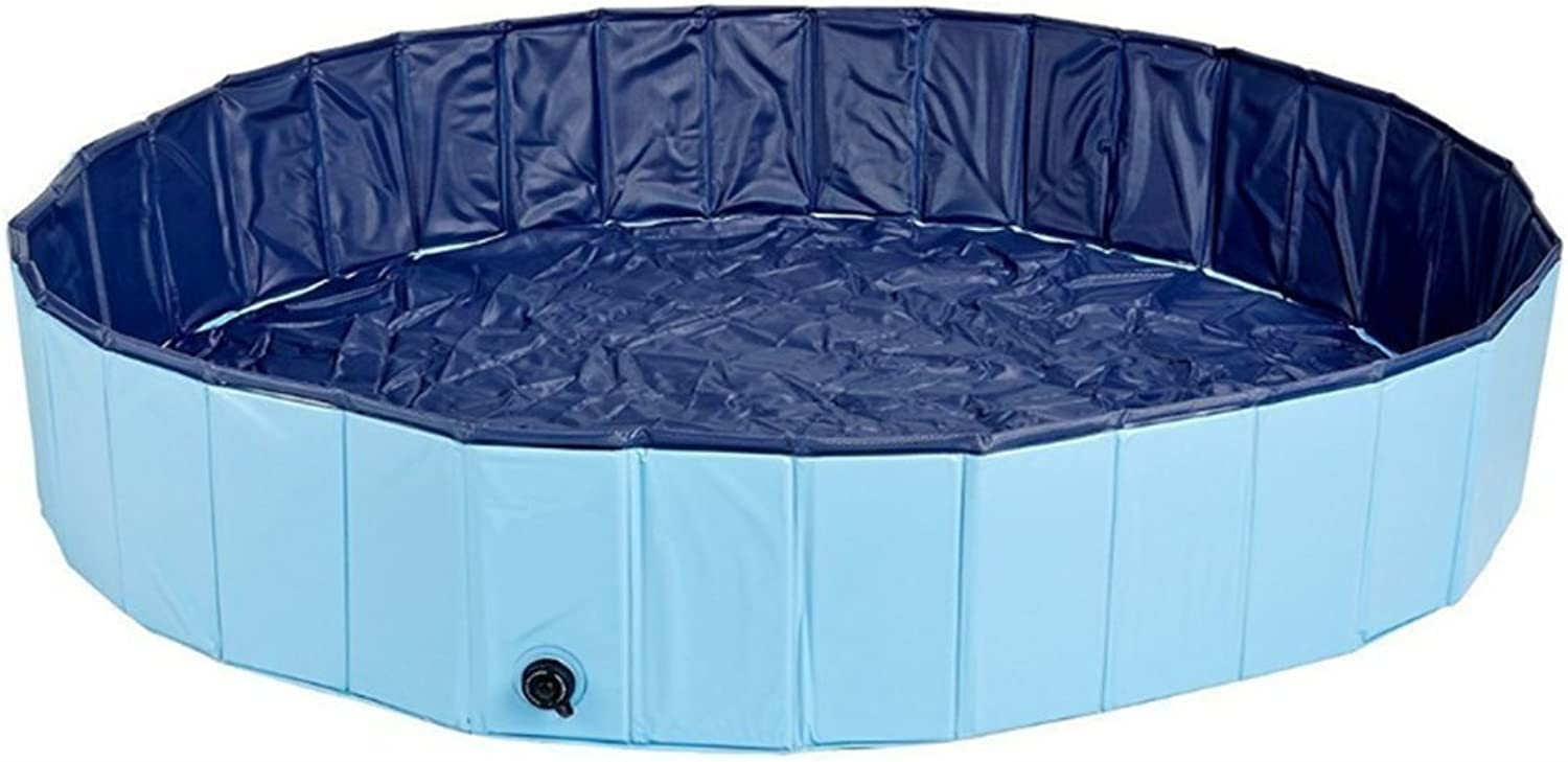 Lvmiao Foldable Extra Large Dog Cats Pet Pool Bathing PVC Pet Swimming Pool Kiddie Pools For Kids Portable Tub Bathtub Wash Red And bluee(31Inch X 7.9 Inch)