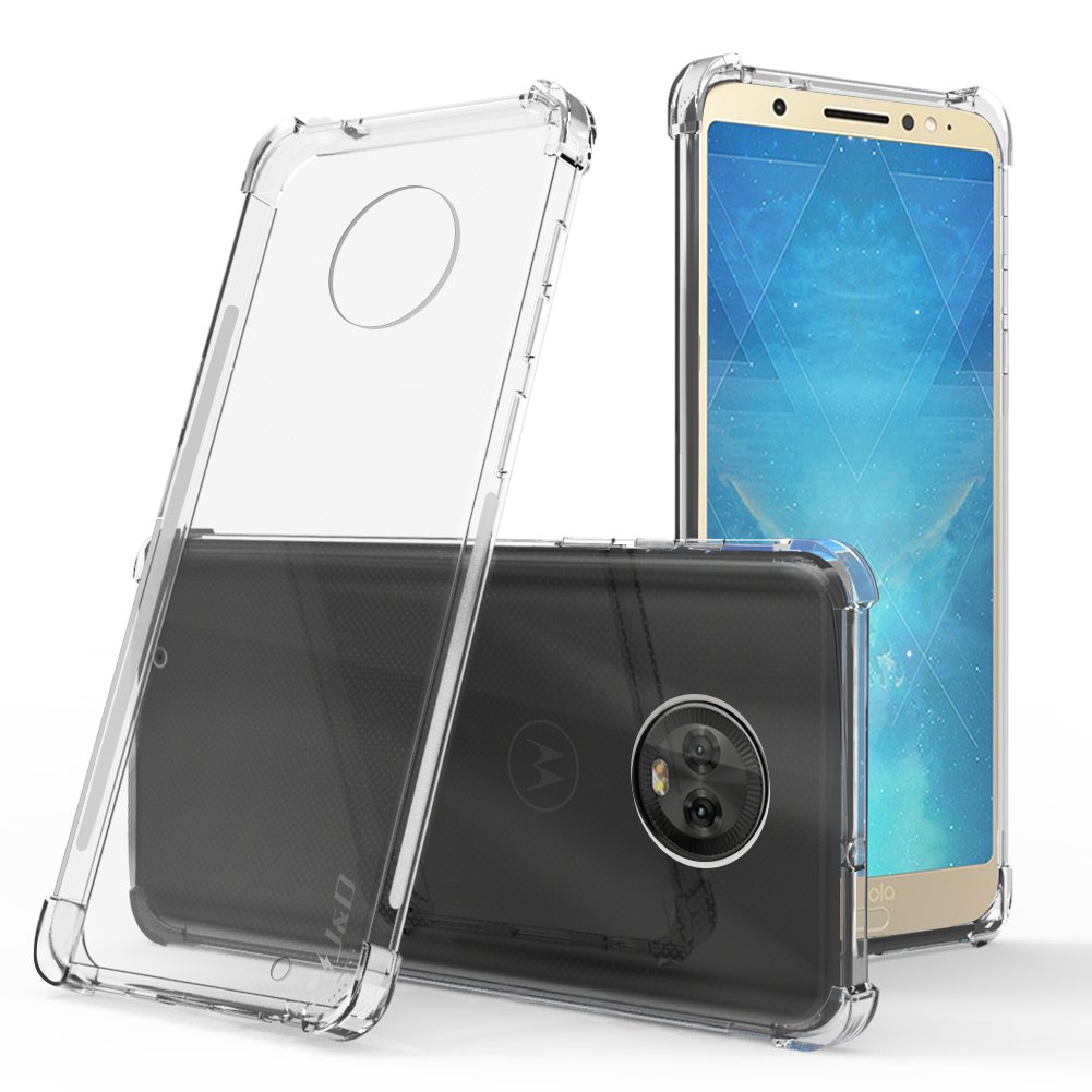 Shock Resistant Protective TPU Slim Case for Motorola Moto G6 Bumper Case - J/&D Case Compatible for Moto G6 Case, Drop Protection Slim Cushion - Black Not for Moto G6 Plus//Moto G6 Play