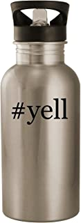 #yell - Stainless Steel Hashtag 20oz Road Ready Water Bottle, Silver