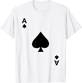 Ace of Spades Tshirt Blackjack Cards Poker 21 Teeshirt