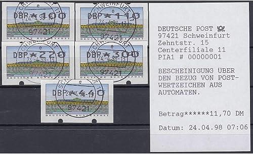 Goldhahn BRD Bund ATM 2.2.2 TS1 gestempelt 100 110 220 300 440 PFG. Mettler Briefmarken für Sammler