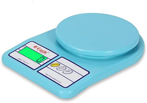 Eagle PKT 400 Multipurpose Digital Kitchen Scale Electronic Weight Machine Digital Weighing Scale Kitchen weight machine with Green Backlight 10 kg Blue