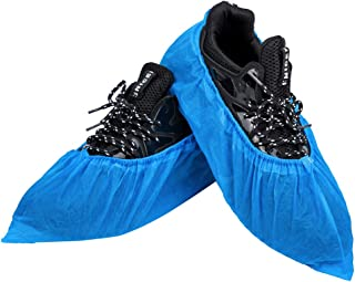Disposable Shoe Covers & Boot Covers 100 Pack (50 Pairs)  Durable & Water Resistant   Anti-Slip shoe booties (up to US Men's 11 & US Women's 12.5)