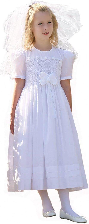 Carouselwear Girls First Holy Communion Hand Smocked Heirloom Dress