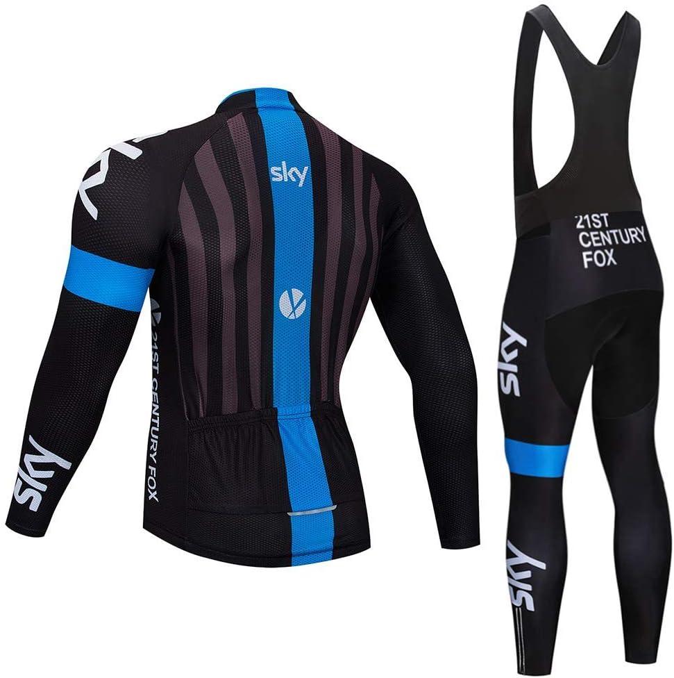 MUBODO Maillot Manches Longues et Pantalon pour Pro Team Ensemble de Cyclisme pour Homme