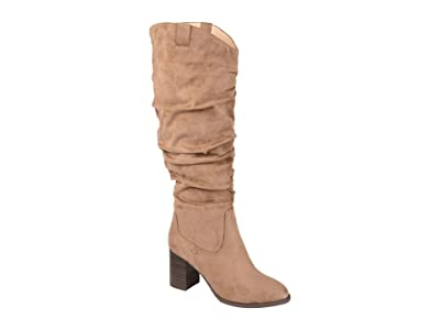 Journee Collection Aneil Boot Extra Wide Calf (Taupe) Women