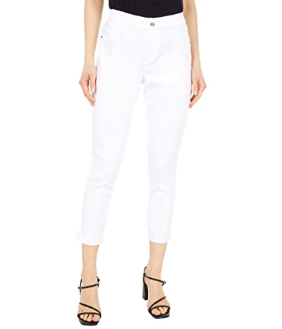 HUE Split Hem Denim Country Capris (White) Women