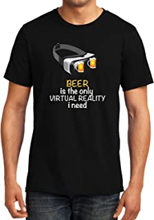 GeekDawn Graphic Printed T-Shirt|Beer is The only Virtual Reality I Need T-Shirt|Funny Quote T-Shirt|Geek T-Shirt|Beer T-Shirt|Half Sleeve Round Neck T-Shirt|100% Cotton T-Shirt|Gift|Gifting