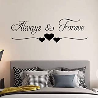 Tbrand Wall Sticker Rooms Decoration Always Forever Wall Décor for Couples,Bedroom Living Room Girl Room,Baby Room Art Hom...