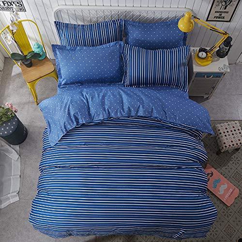 Huyiming bed linings wordt voor de vierdelige studentenhuisje van Scandinavisch linnen in eenvoudige stijl gebruikt. 1.8-delige set