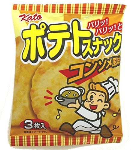 かとう製菓 ポテトスナック(コンソメ風味) 3枚入×20袋