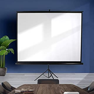 100 Inch Projector Screen Tripod Stand Home Pull Down Outdoor Screens Cinema 3D
