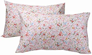 YIH 600 Thread Count Cotton Floral Standard Pillowcases, 100% Long Staple Cotton Pillow Covers, 20x30 inches