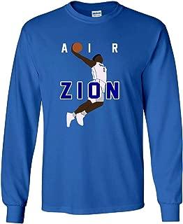Long Sleeve Blue Zion Duke Blue Devils Air Pic T-Shirt
