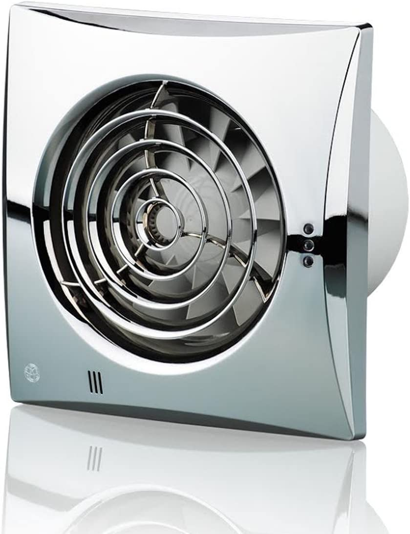 Blauberg UK 100Silencioso T cromo 100mm ventilador Extractor con temporizador–cromado