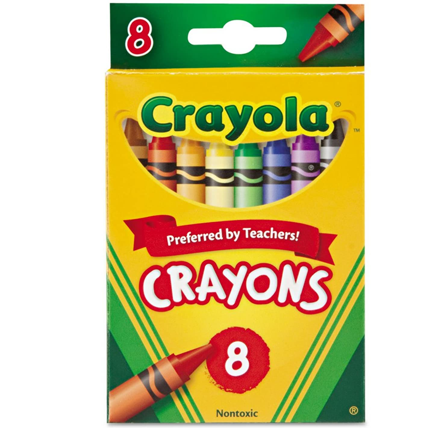 Crayola Crayons 8 Colors, 3 Pack
