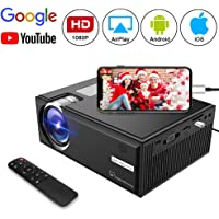 Goxmgo Full HD 1080p 2500-Lumens LCD Home Theater Projector