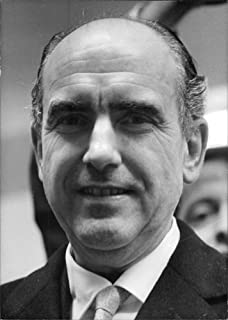 Vintage photo of Close up of Andreas G. Papandreou.
