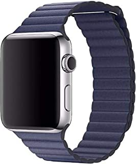 Leather Adjustable Magnetic Closure Wrist Loop Band Strape for 42mm Apple Watch