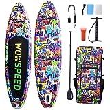 Tabla de surf de remo, hinchable, 320 x 83 x 15 cm, juego de tabla SUP de...