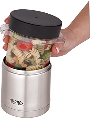 Thermos Stainless Steel Vacuum Insulated Sleeve with Microwavable Food Jar, 355ml, Stainless Steel, TS32006AUS