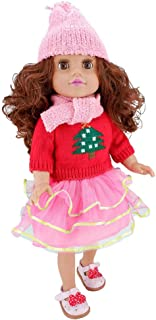 HUICAO 1 Set Gorgeous Clothes Casual Wear Dresses Lively Outfit for 18 inch Dolls Like American Girl, Our Generation,My Life,Adora,Gotz Doll Accessories Costume Outfits(NO Doll NO Shoes)