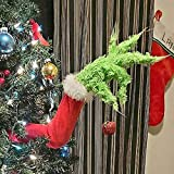 NIGHT-GRING Furry Green Arm for Christmas Tree Decorations, Grinch Tree Topper, Dr. Seuss The Grinch Ornaments, Christmas Tree Ornaments for Christmas Party (Arm)
