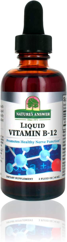 Nature's Answer Liquid Arlington Over item handling Mall Vitamin B-12 Nerve Fun Promotes Healthy