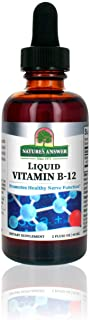 Nature's Answer Liquid Vitamin B-12 | Promotes Healthy Nerve Function & Energy Levels | Naturally Flavored & Gluten-Free 2oz