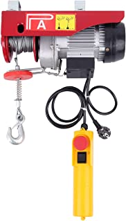 Samger 550W 125/250KG Polipastos Electricos para Garaje Auto Tienda Talleres Cabrestante Eléctrico Cable para Elevador Electrico 220V