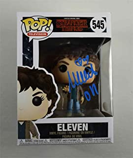 Millie Bobby Brown Stranger Things Signed F unko Pop Doll Certified Authentic JSA COA