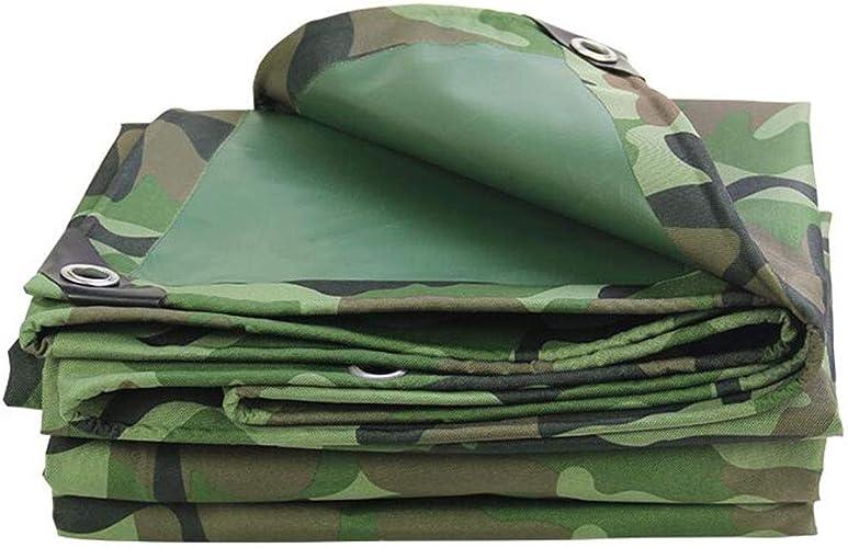 D_HOME épaissir Camouflage imperméable bache de Prougeection Solaire en Tissu Oxford (Taille   4  4.5m)