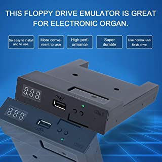 HDD Enclosure,Black SFR1M44-U100K 5V 3.5 1.44MB 1000 Floppy Disk Drive to USB emulator Simulation Simple plug For Musical Keyboad