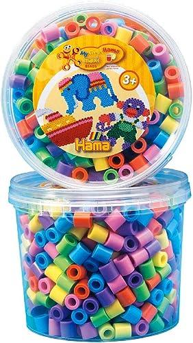 Hama - 8571 - Loisirs Créatifs - Pot 600 Perles à Repasser - Taille Maxi - Pastel