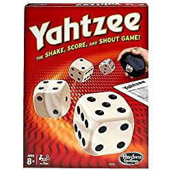 Yahtzee-- one of the best board games to play over Zoom