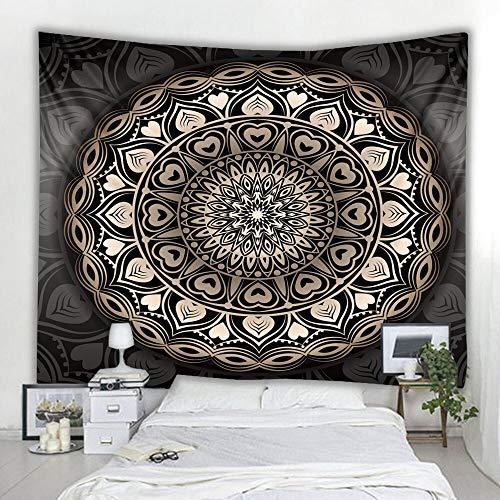 Tapiz de mandala indio colgante sol Luna Tarot psicodélico manta de pared decoración del hogar dormitorio tela de fondo A1 180x200cm