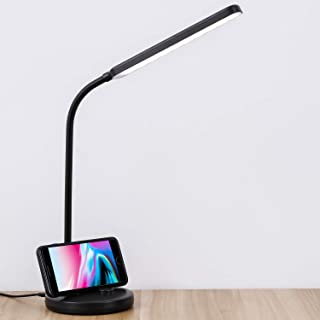 COOLOUS LED Table Lamp Touch Control Dimmable Desk Lamp 5W Multi-Function Adjustable Touch Switch Eye-Care with 3 Mode Brightness Levels Black