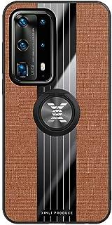 NiaCoCo Compatibel met Case +1*Screen Protector,360 graden Rotatie Ring Houder Anti-Scratch Anti-Vingerafdruk Slim Schokbestendige Beschermende Cover, BRON, Huawei P40