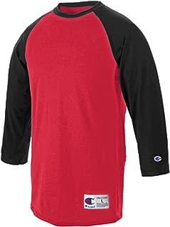 Raglan Baseball T-Shirt, Scarlet/Black