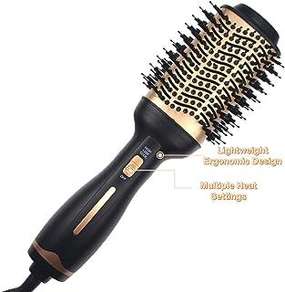 Hot Air Brush,Hair Dryer Brush, Professional Hair Dryer & Volumizer 3 in 1 Upgrade Anti-scald Negative Ionic Technology Hair Straightener Brush,Salon Negative Ion Ceramic Electric Blow Dryer
