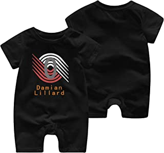 Stowely Tiffanyuo Baby Basketball Damian-Lillard 0 Short Sleeve Jumpsuit (Single Piece)