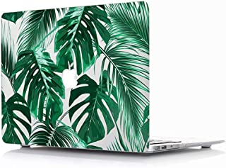 MacBook Air 13 Inch Case 2018 Release A1932 - AQYLQ Plastic Hard Case Rubber Coated Protective Cover for MacBook Air 13 Inch with Retina Display fits Touch ID - Palm Leaves 2