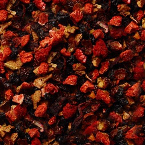 Früchtetee lose Sylter Wildbeeren Hagebutten, Johannisbeeren, Apfel, Korinthen, Hibiskus, Holunderbeeren, Rote-Bete, Erdbeer, Himbeeren Früchte Tee Erdbeer- Johannisbeere 500g