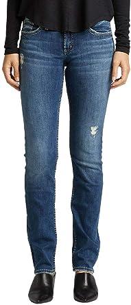 Silver Jeans Suki Mid Straight, Vaqueros para Mujer