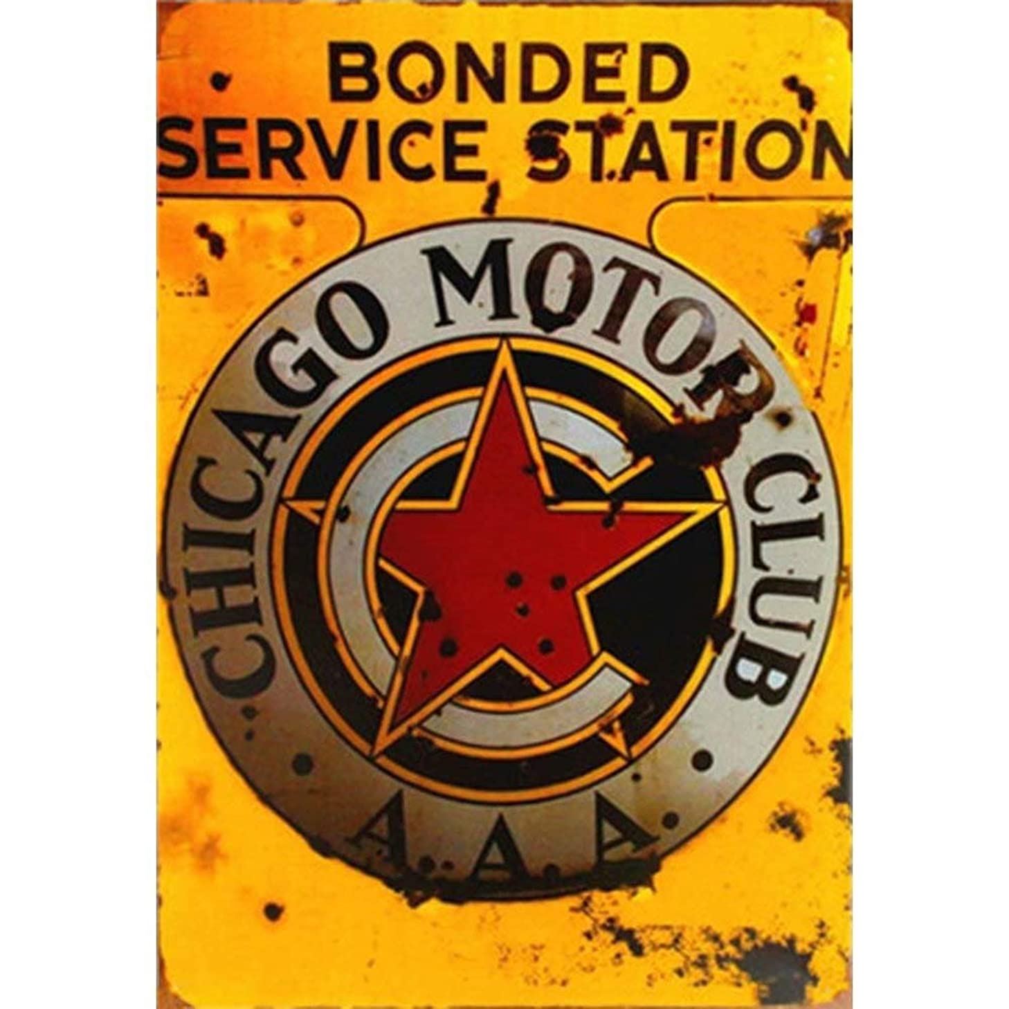 Metal Sign Vintage Garage Wall Decor Stickers Metal Signs for Garage Man Cave,Gas Petrol Station-Service Station