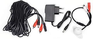 tonton Audio Mic Micrófono para vigilancia Ton Pickup para vigilancia CCTV con 20 Metros de Cable y Fuente de alimentación para vigilancia Sistema CCTV
