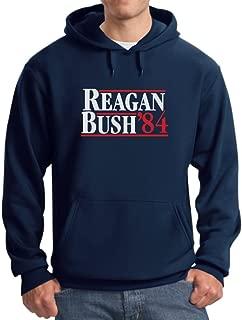 Tstars Men's - Ronald Reagan Bush '84 Hoodie