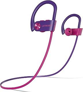 LETSCOM Bluetooth Headphones IPX7 Waterproof, Wireless Sport Earphones, HiFi Bass Stereo..
