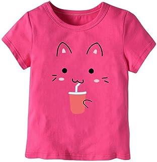 aba34cf2e2247 Vêtements Fille Ete Oyedens Enfants Filles T-Shirts Fille 1 à 7 Ans Hauts  Manches