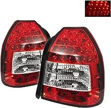 ACANII - For 1996-2000 Honda Civic DX Hatchback Lumileds LED Red Clear Tail Lights Lamp Left+Right Rear Brake Assembly